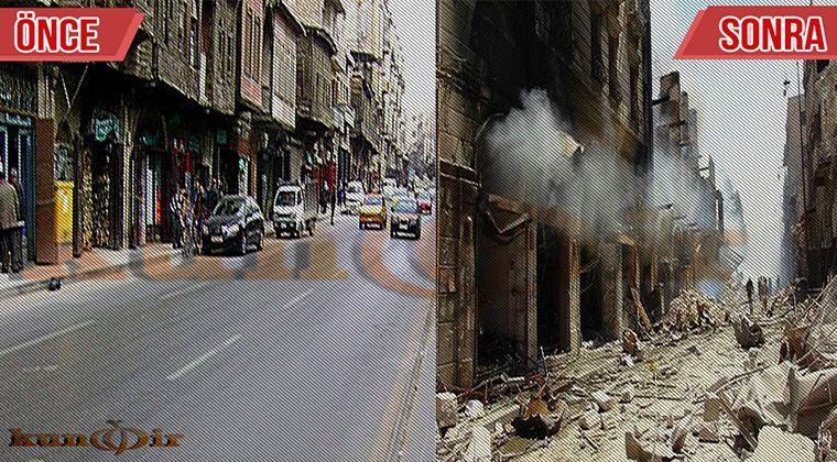 Halep bombalanması