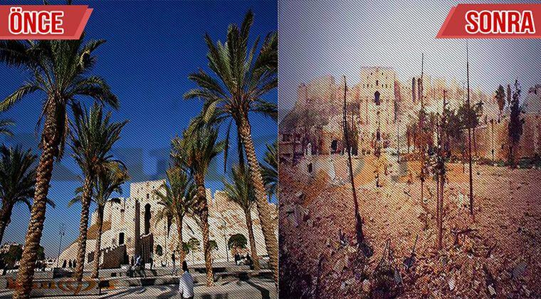 Halep saldırı yıkımı