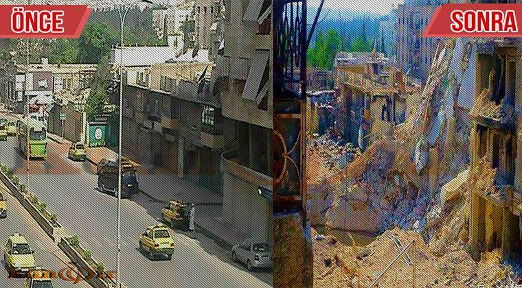 Halepin yıkımı