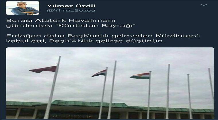 Kürdistan Bayrağı Yılmaz Özdil