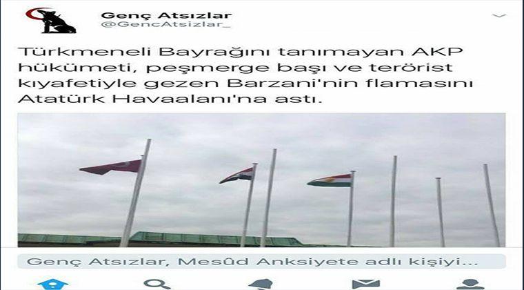 Kürdistan Bayrağına Saldıranlar