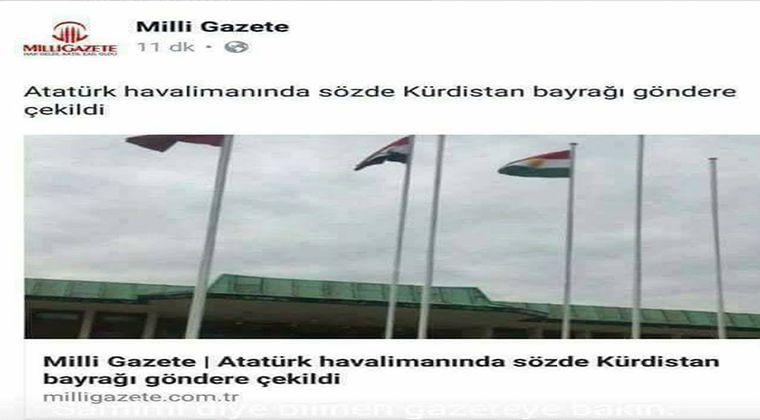 Kurdistan Bayrağı Milli Gazete