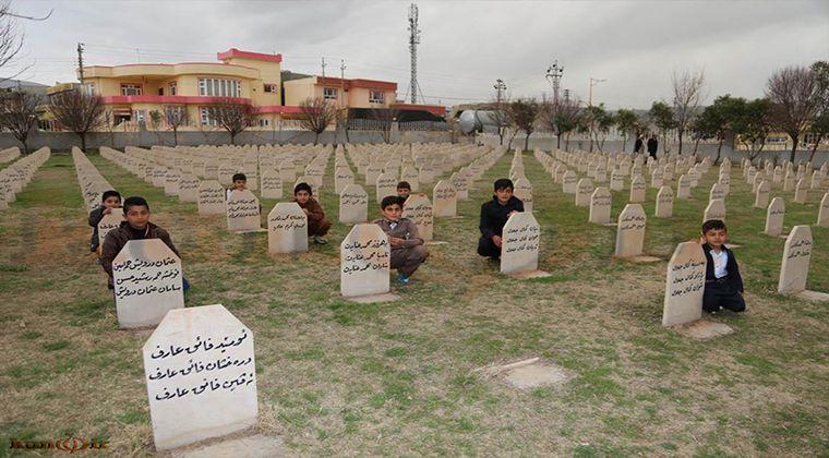 Enfal Katliamında ölen kişilerin mezarı