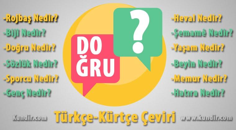 Kürtçe Doğru çevirisi