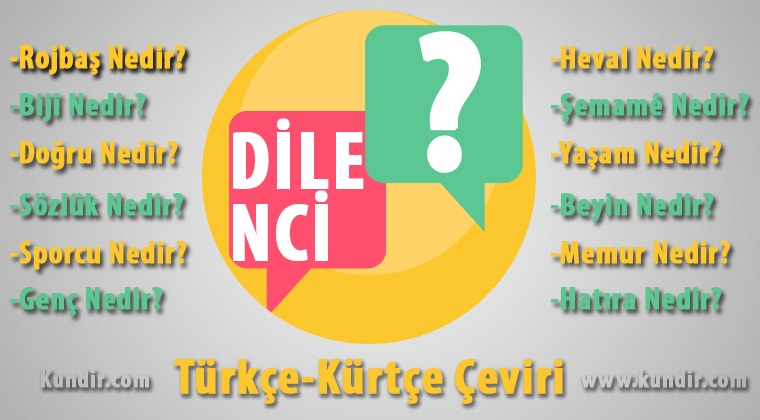 Kürtçe dilenci çevirisi