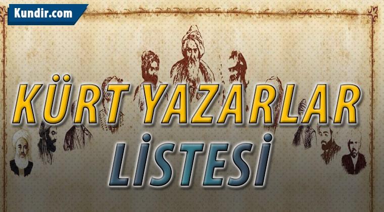 Kürt Kökenli Şair ve Yazarlar